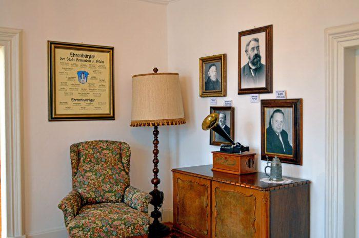 Ehrenbürgerecke im Bürgerzimmer