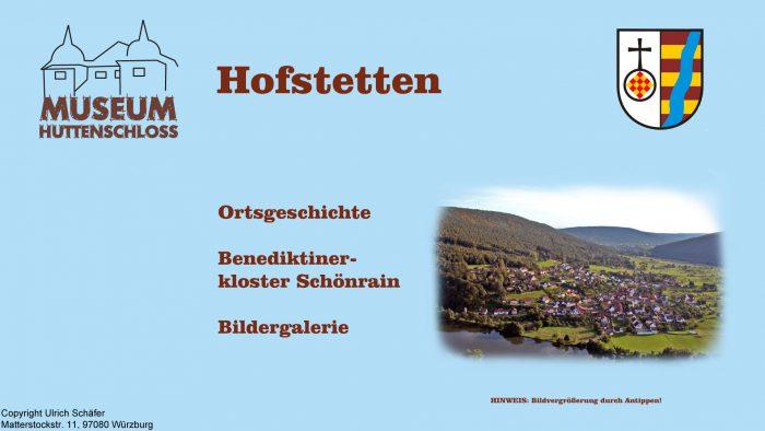 Auszug aus den Informationsterminals: Menü Hofstetten