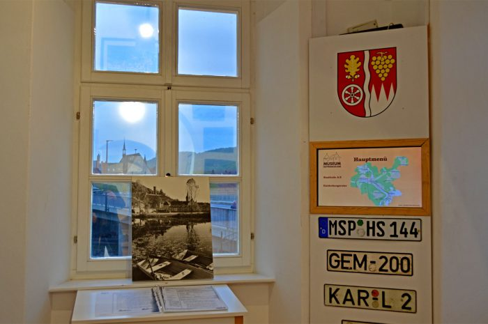 Informationsterminal der Stadtteile im Huttenschlossmuseum